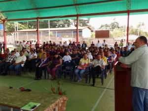 Sesión Solemne en la cancha techada Ceibas de Páez.