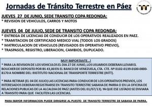 Jornadas de Tránsito Terrestre en Páez