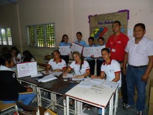 Estudiantes del 1er año de la UE Andrés Bello de Sabana de Parra, recibieron sus computadores Canaima.