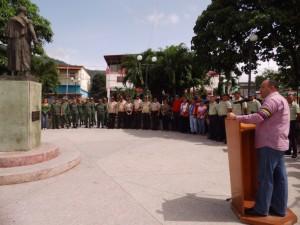 Freddy Torres, Presidente del Concejo Municipal Páez dirigió unas palabras a los presentes.