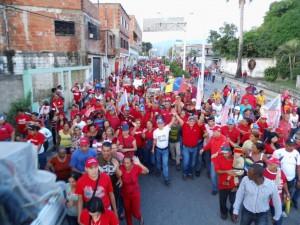 La marea roja desbordó la avenida Libertador y el centro de Sabana de Parra.