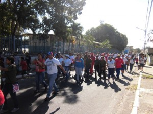Caminata por las principales calles de Sabana de Parra