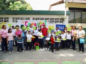 Niños y Niñas del IEEB Sabana de Parra recibieron material recreativo y didáctico por parte de la ONA.