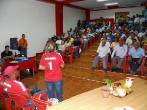 Los trabajadores del campo realizaron sus aportes al Plan de Producción Nacional.