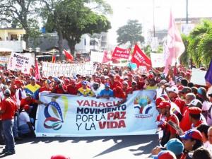 El Gobernador Julio León encabezo la marcha