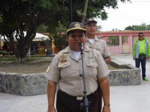 Sgto. Ana Crespo,comandante del puesto de tránsito terrestre del Municipio Páez.