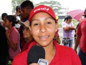 Vanessa Giménez, miembro de la asociación civil Marcelina Parra