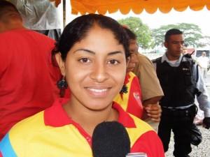 Crislay Linárez, representante de la Asociación Civil Marcelina Parra