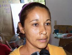 Naileth Vizcaya, habitante del sector El Carabalí
