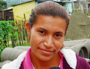 Yelibeth León, habitante del sector Aliché