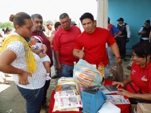 El sector Juana Silva de La Blanquera fue uno de los sectores beneficiados con la jornada mercal.