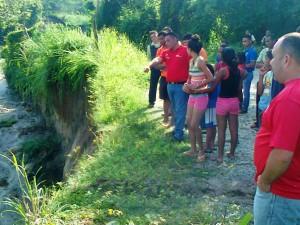 El ejecutivo indicó que se requiere una gran inversión para construir gaviones en la quebrada La Cochinera, la cual cedió en gran parte ante las lluvias del pasado domingo.