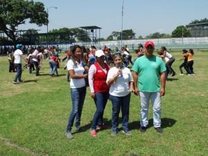 Algunos representantes de los organismos que organizan este plana vacacional. CMDNA Páez, Fundacomunal e Idenna Yaracuy.