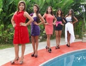 Candidata N° 01: Mariangel Graterol , Candidata N° 02: Ana Isabel Julio, Candidata N° 03: Scarlet Graterol , Candidata N° 04: Dailynk Hernández, Candidata N° 05: Angelys Mendoza.