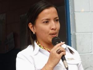 Prof. Luisa Sofía Pérez, jefa escolar del Municipio Páez.
